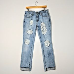 Custom Distressed Levi's Stovepipe Jean
